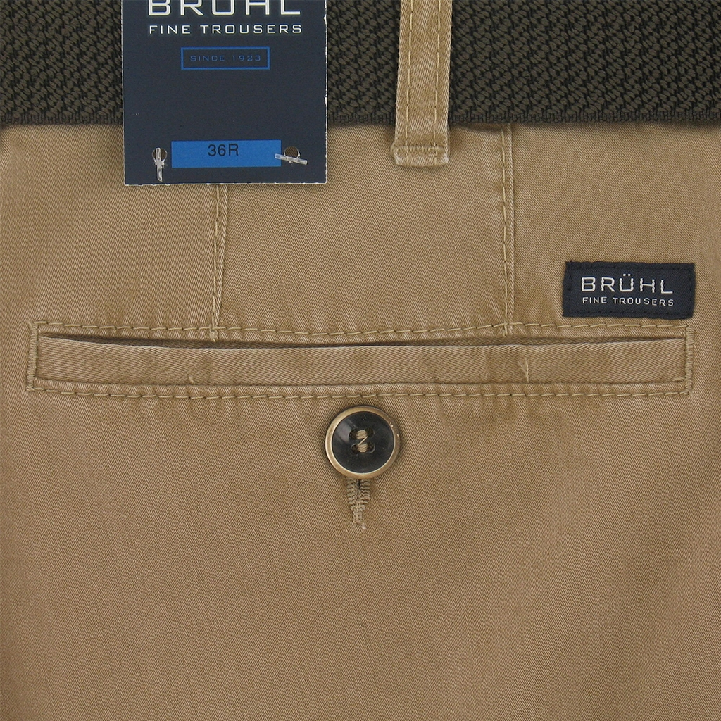 New 2017 Bruhl Washed Cotton Trouser Montana 182470 230 - Sand