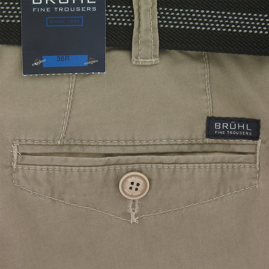 New 2017 Bruhl Cotton Trouser Venice 182609 450 - Stone - Slim Fit