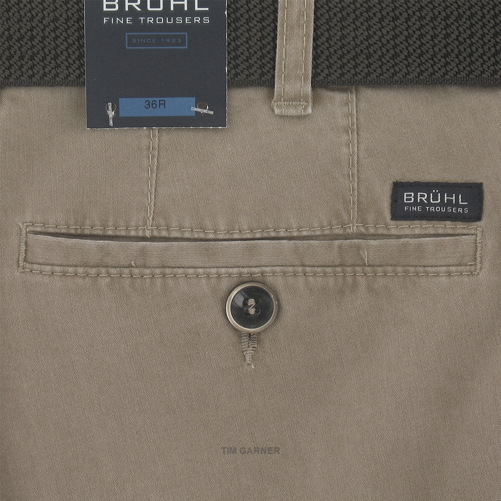 New 2017 Bruhl Washed Cotton Trouser Montana 182470 220 - Beige