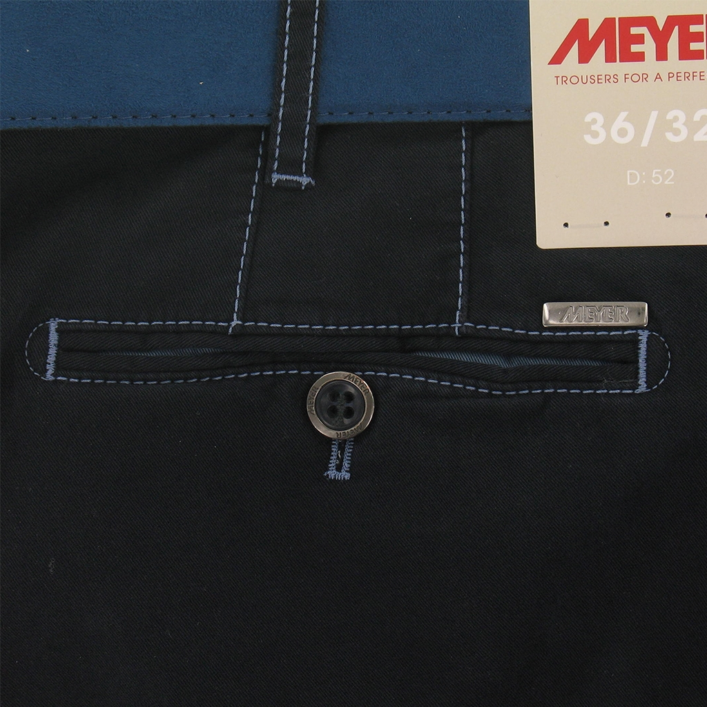 New 2017 Meyer Trousers Luxury Cotton - Navy