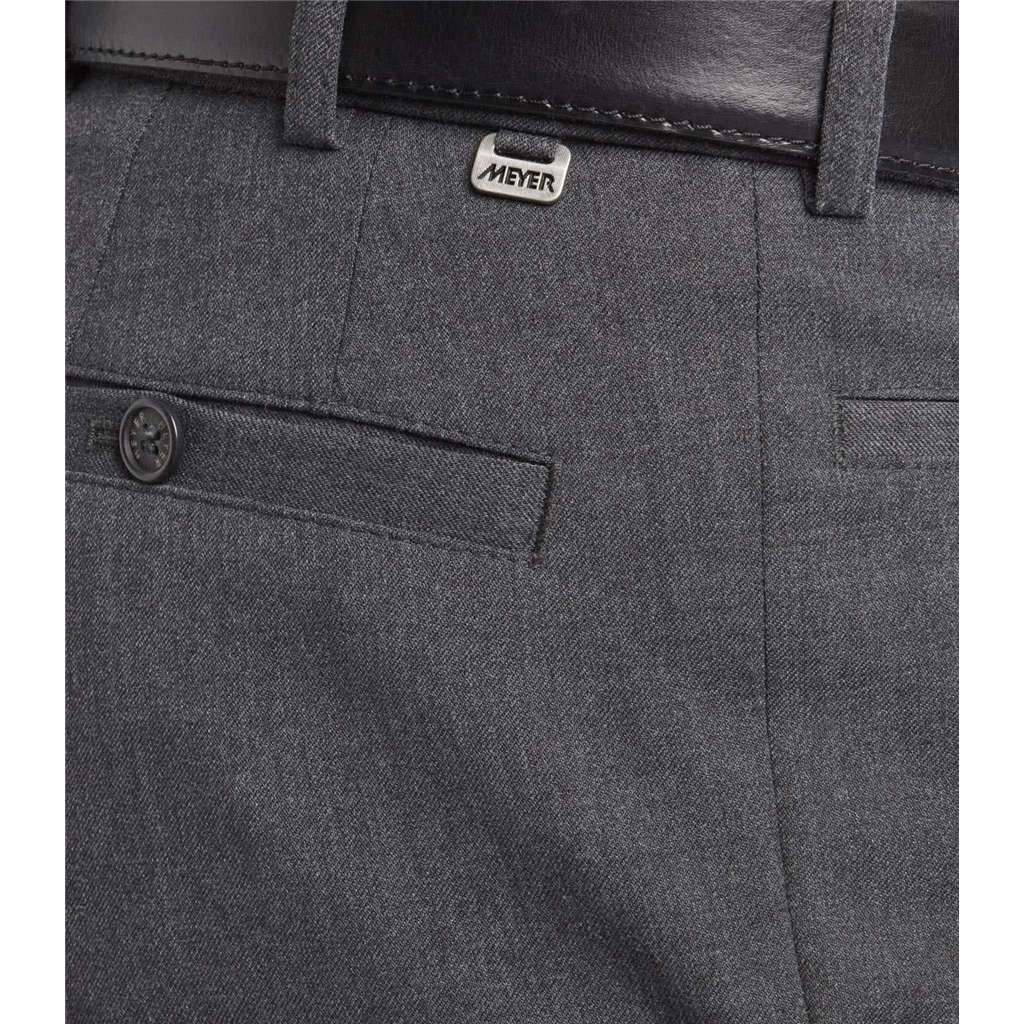 Meyer Trouser Fine Gabardine Wool - Grey - Roma 288 06