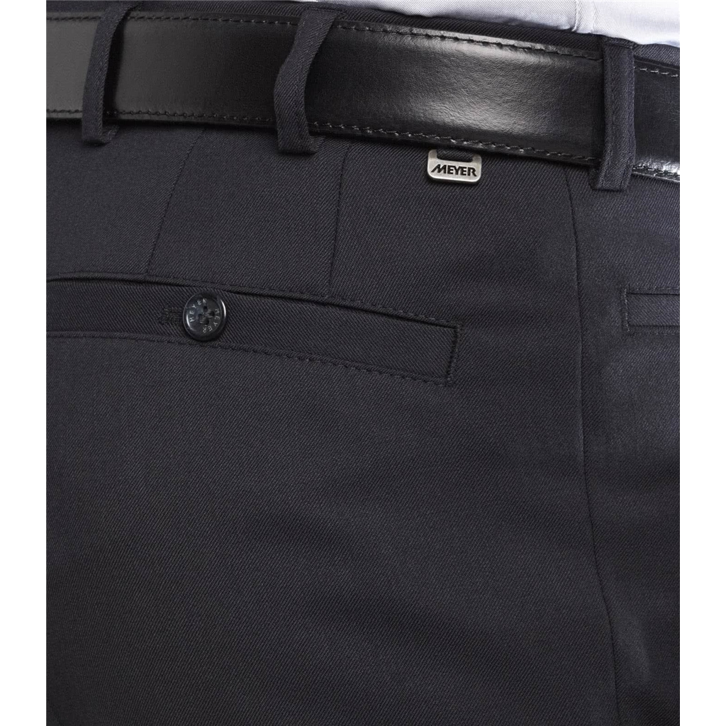 Meyer Trouser Fine Gabardine Wool - Navy - Roma 288 19