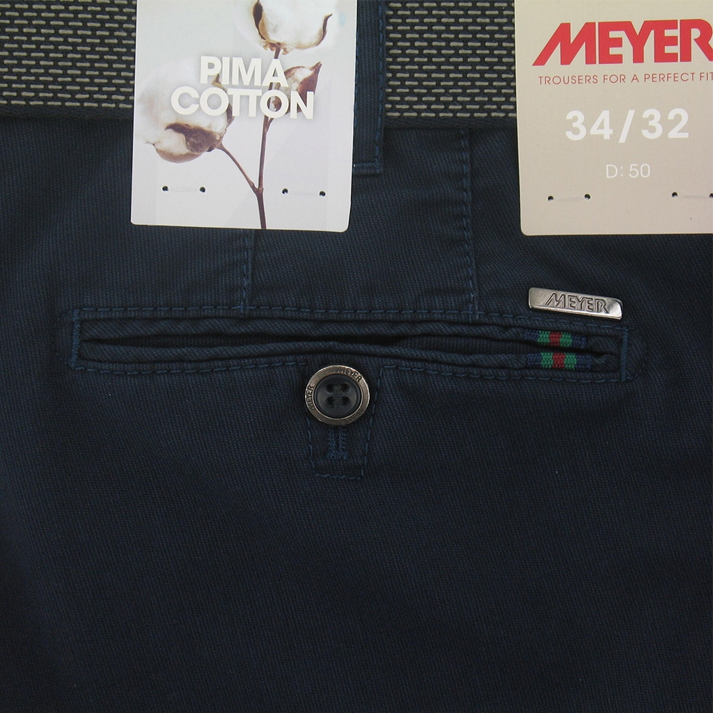 New 2017 Meyer Trousers Luxury Pima Cotton - Navy - Online Exclusive