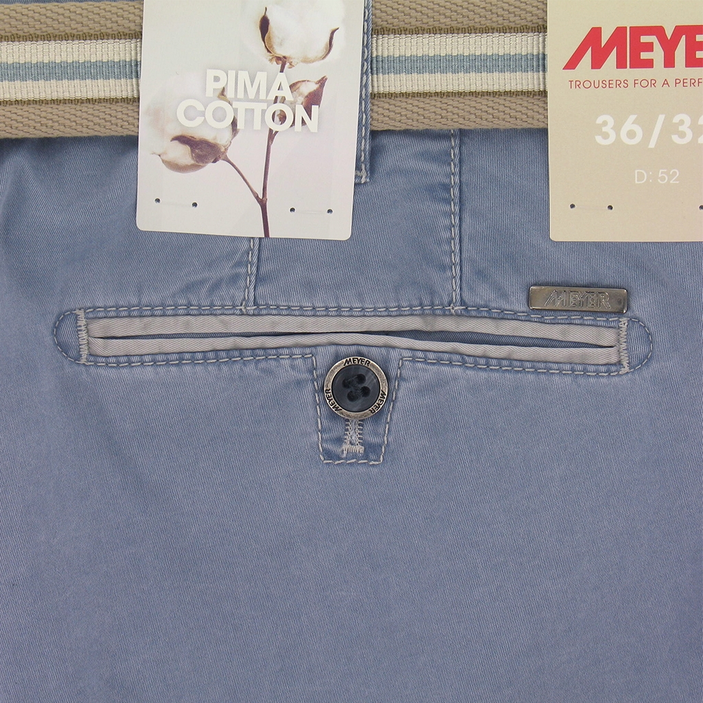 New 2017 Meyer Trousers Luxury Pima Cotton - Sky Blue - Online Exclusive