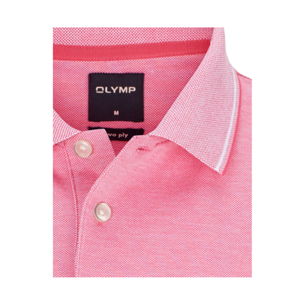 Olymp Polo - Modern Fit - Textured Pink