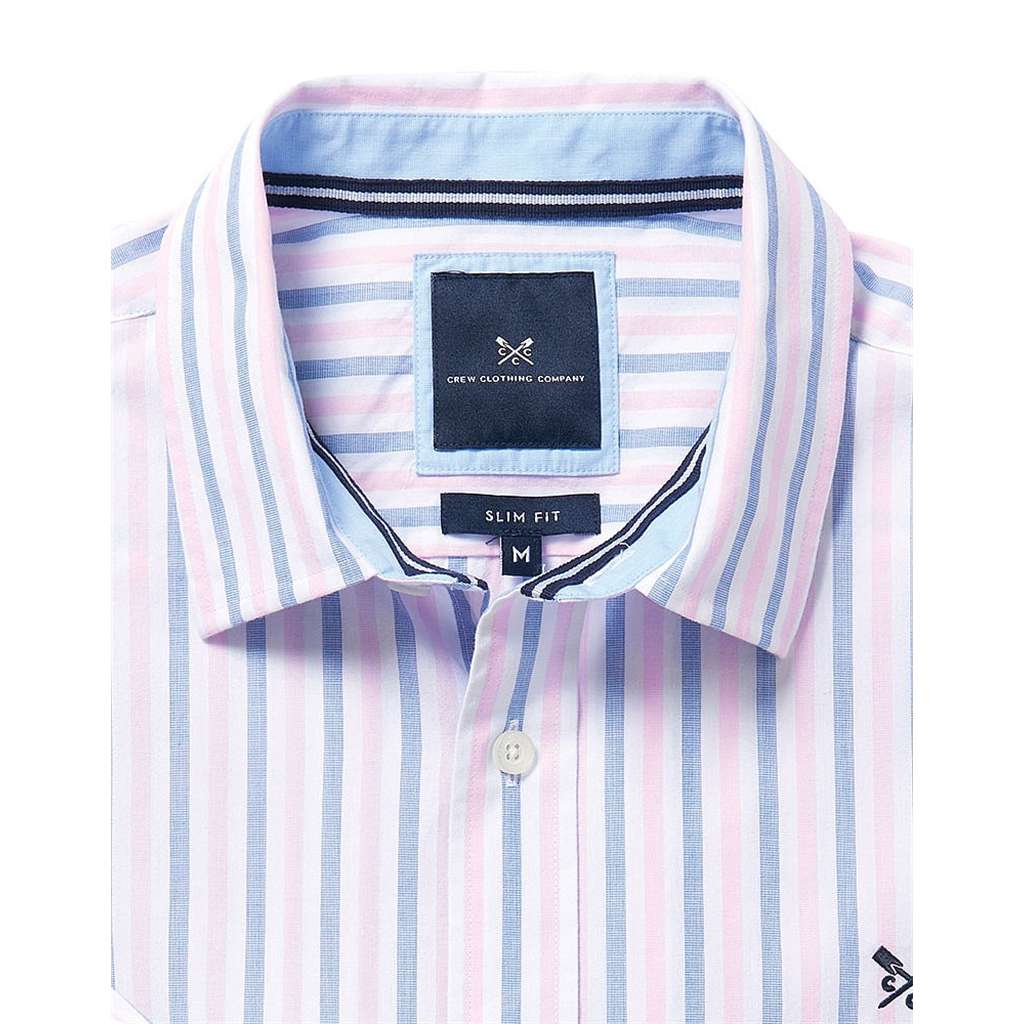 New 2017 Mens Crew Clothing Slim Fit Shirt - Classic Pink