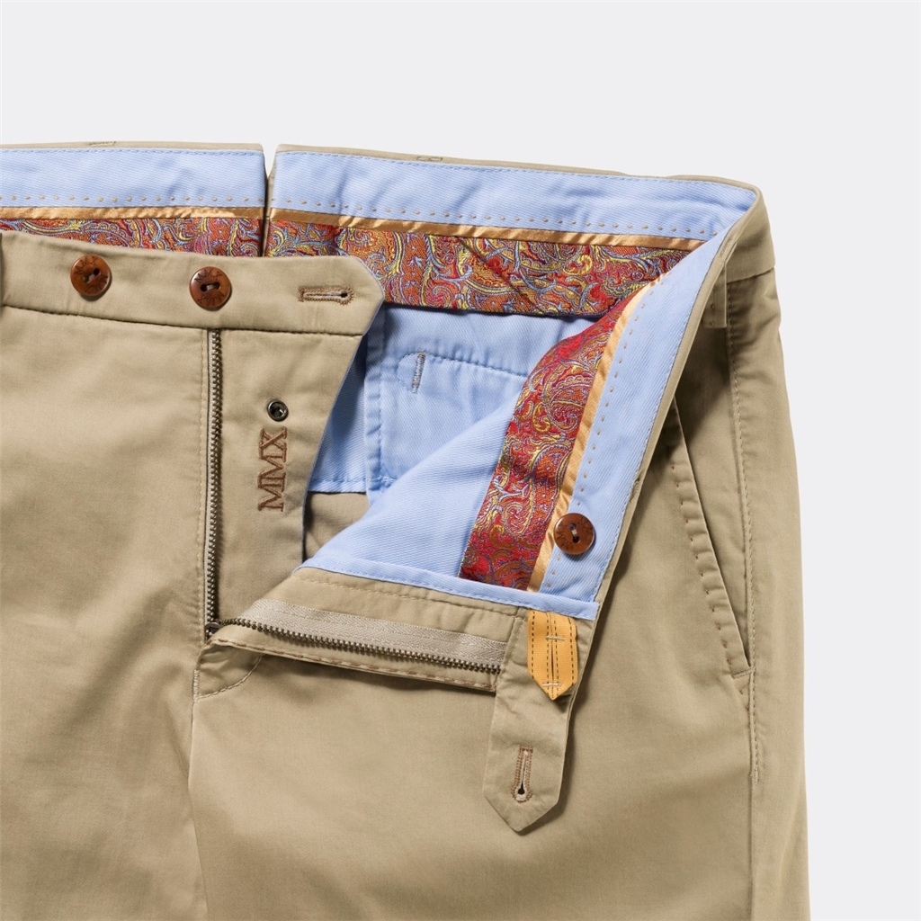 New 2017 Meyer MMX Trousers - Luxury Satin Chino - Sand