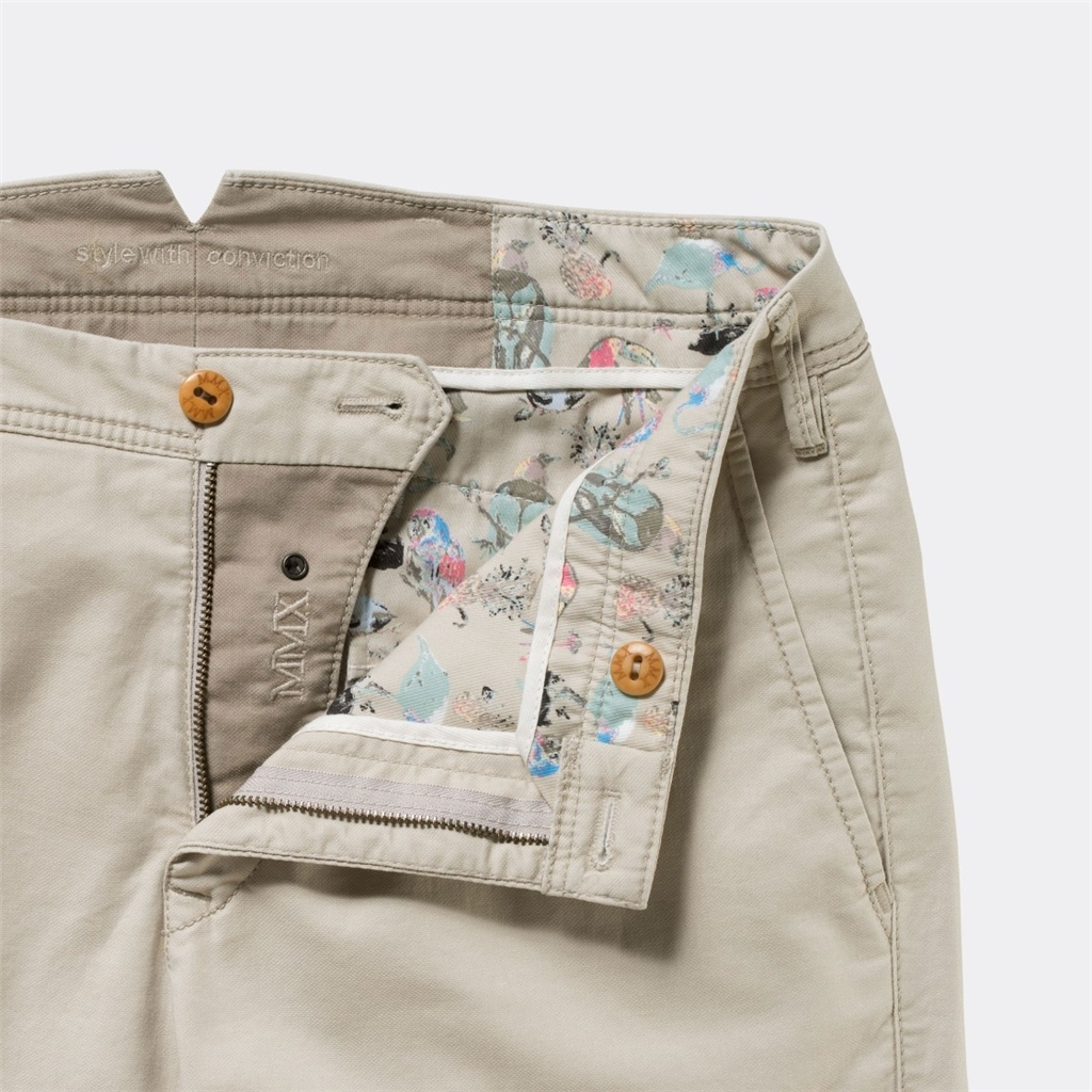 New 2017 Meyer MMX Trousers - Microstructure Chino - Beige
