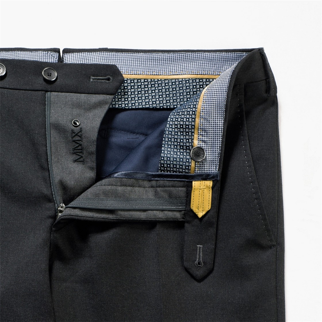 New 2018 Meyer MMX Trousers - Wool Chino - Charcoal