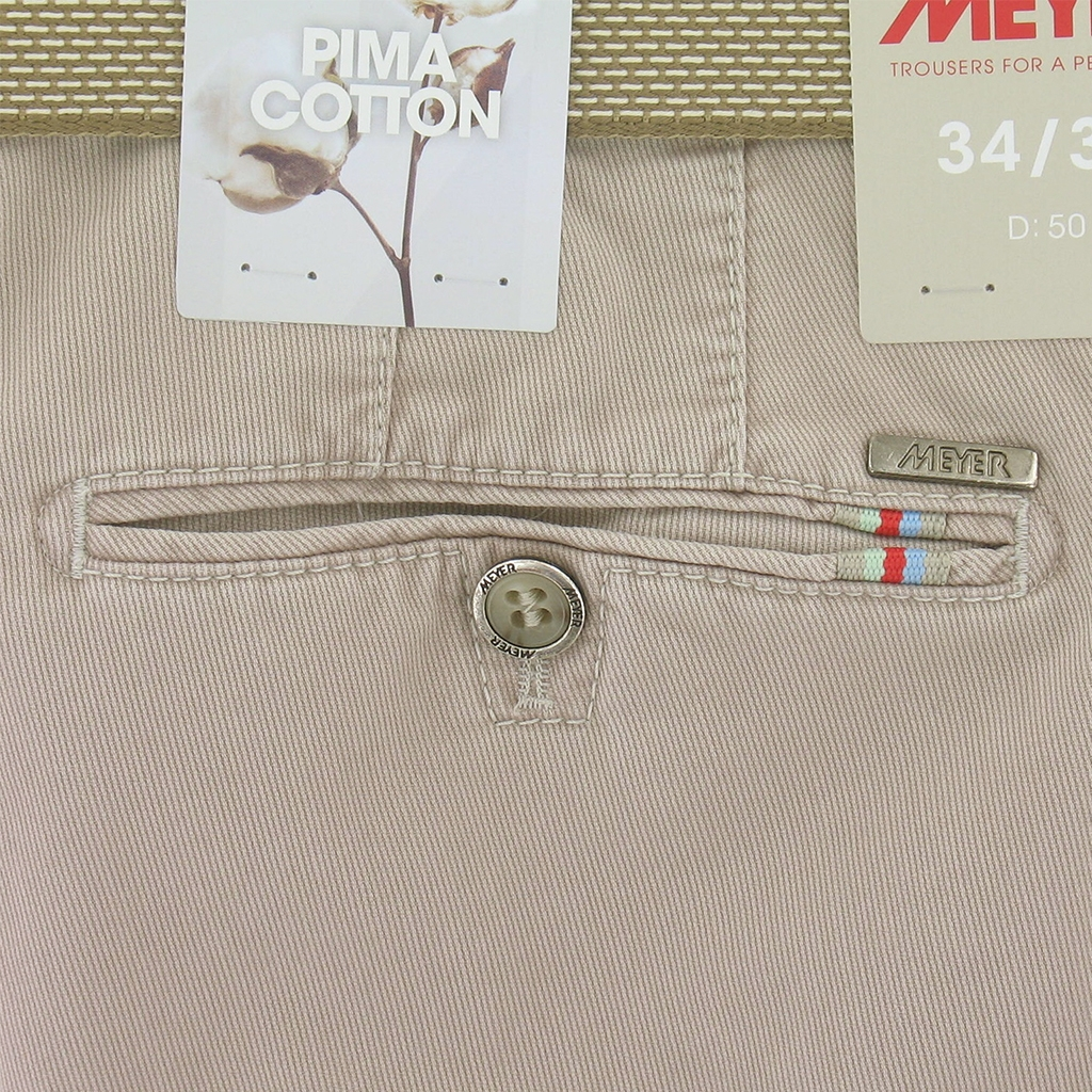 Meyer Trousers Luxury Pima Cotton Rio - Beige - Online Exclusive