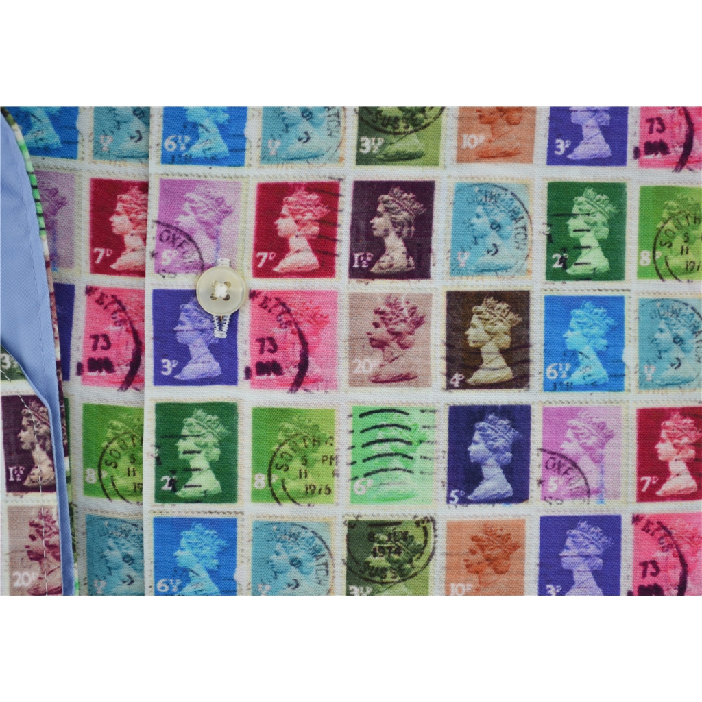 New 2017 Giordano Shirt - Psychedelic Philatelic - Size M Only