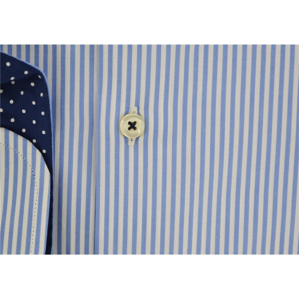 Giordano Shirt - Blue Candy Stripe - Size 3XL Only