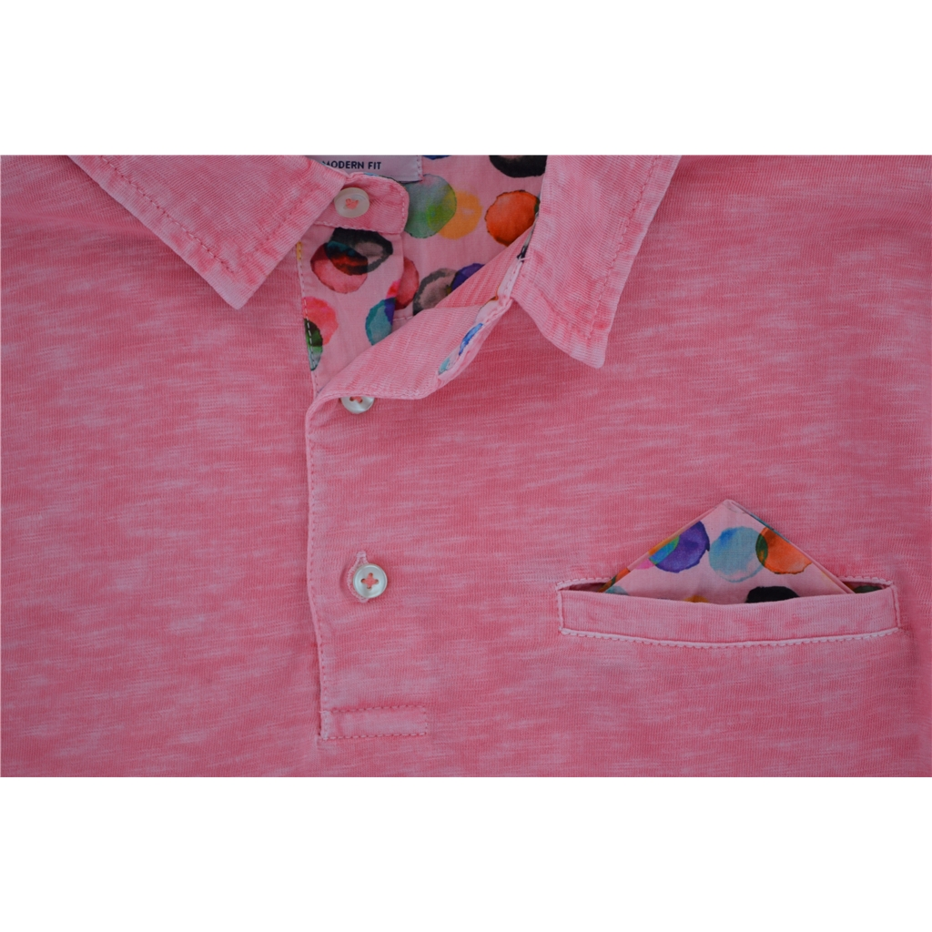 Giordano Washed Cotton Polo Shirt - Deep Pink - Size M Only