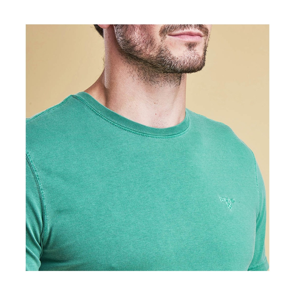 New 2017 Barbour Lifestyle Collection Mens Garment Dyed Tee - Turf Green