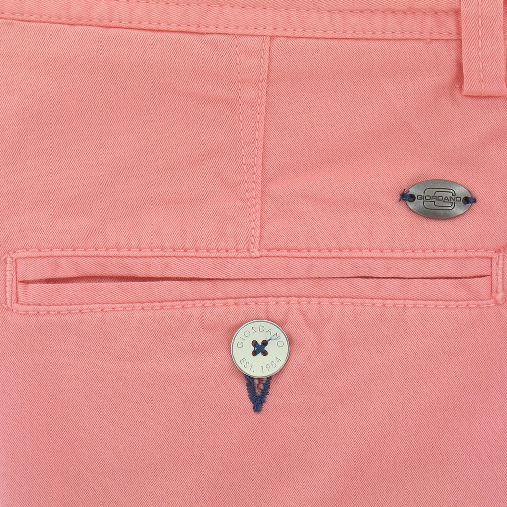 "New 2017 Giordano Cotton Shorts - Salmon - 42"" Waist Only"