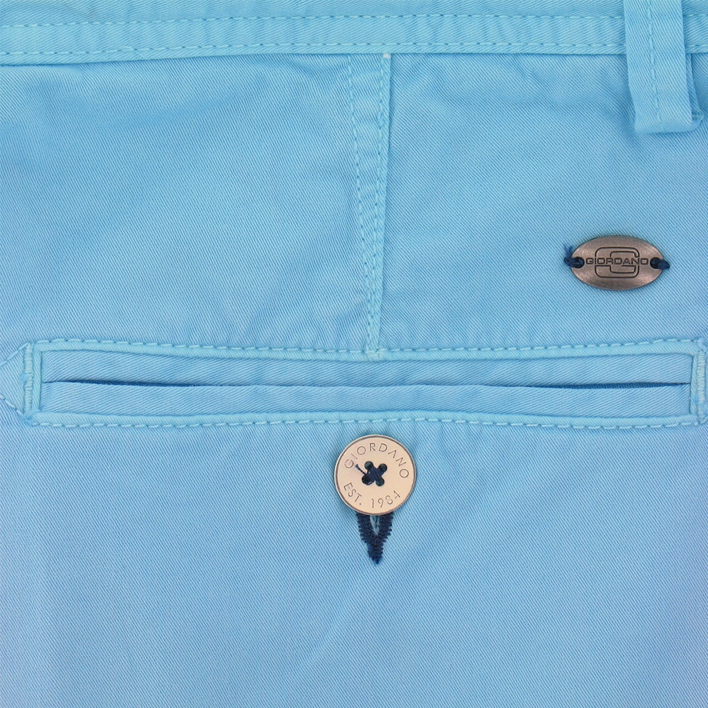 "New 2017 Giordano Cotton Shorts - Aqua Blue - 36"" Only"