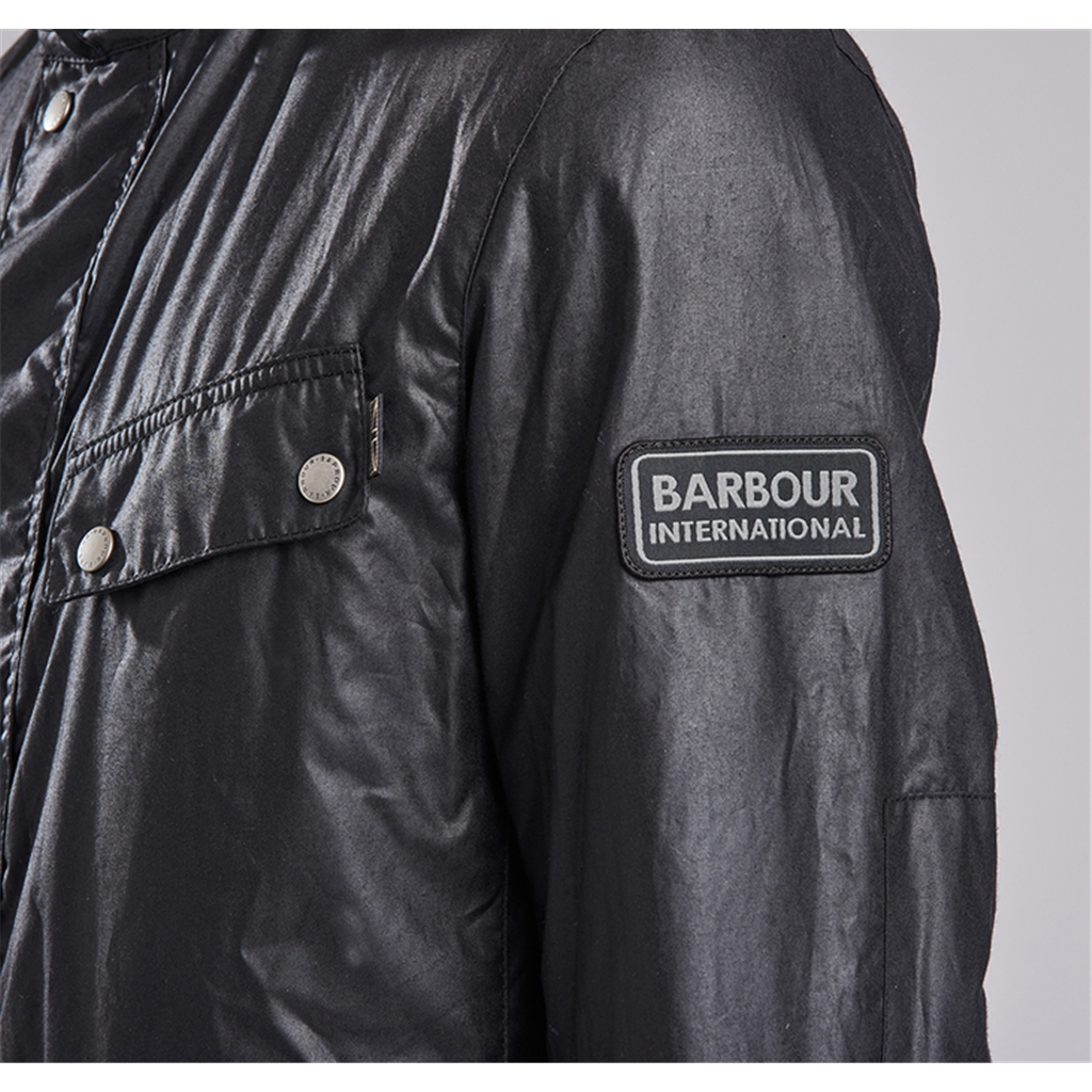 New 2017 Barbour International Mens Enfield Wax Jacket - Black