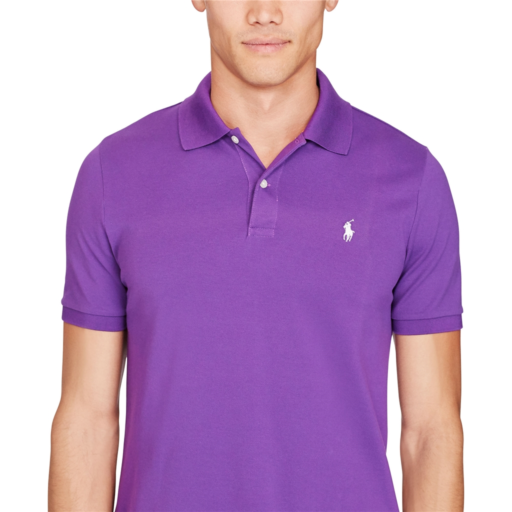 Ralph Lauren Custom-Fit Stretch Mesh Polo - Vivid Purple - Size M & XXL