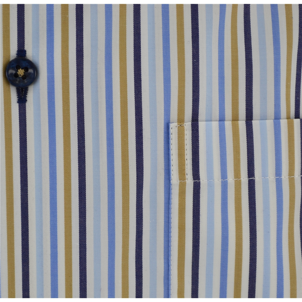 New 2017 Oscar Shirt - Multi stripe - contrast trim and buttons