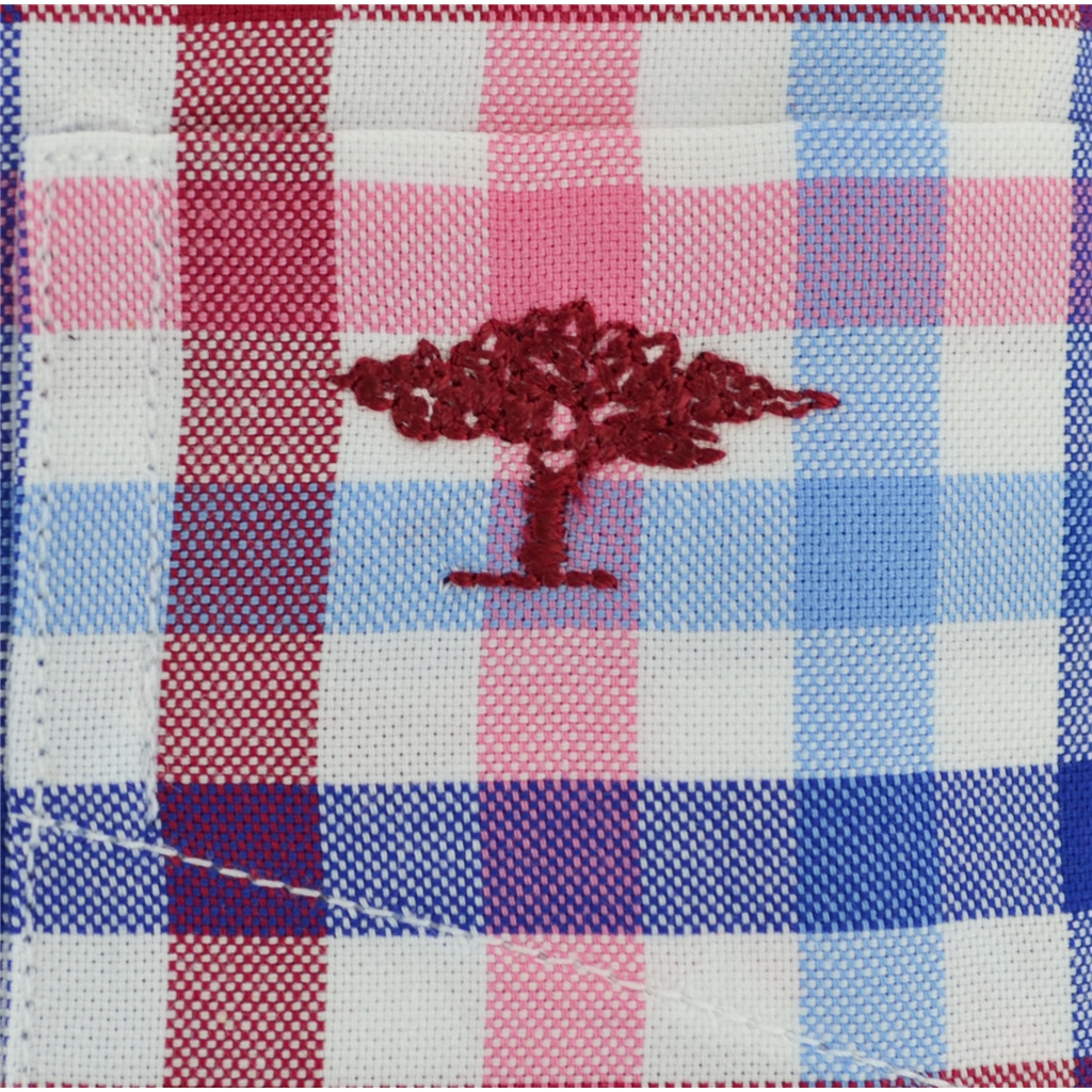 New for 2017 Fynch-Hatton Royal Cotton Short Sleeve Shirt - Berry-Blue