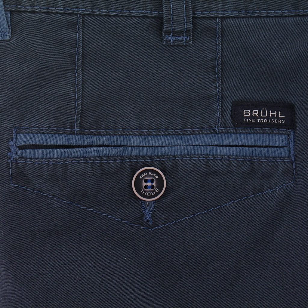 New for 2017 Bruhl Cotton Shorts Mid Blue - Online Exclusive