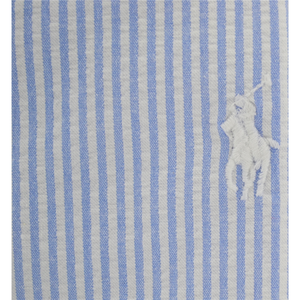New 2017 Polo Ralph Lauren Cadet Stripe Shirt - Regent Blue White