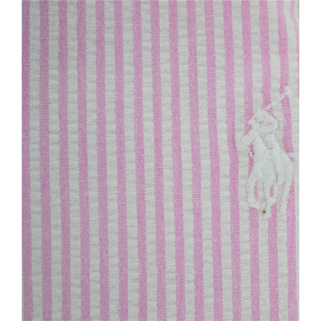 New 2017 Polo Ralph Lauren Cadet Stripe Shirt - Pink White