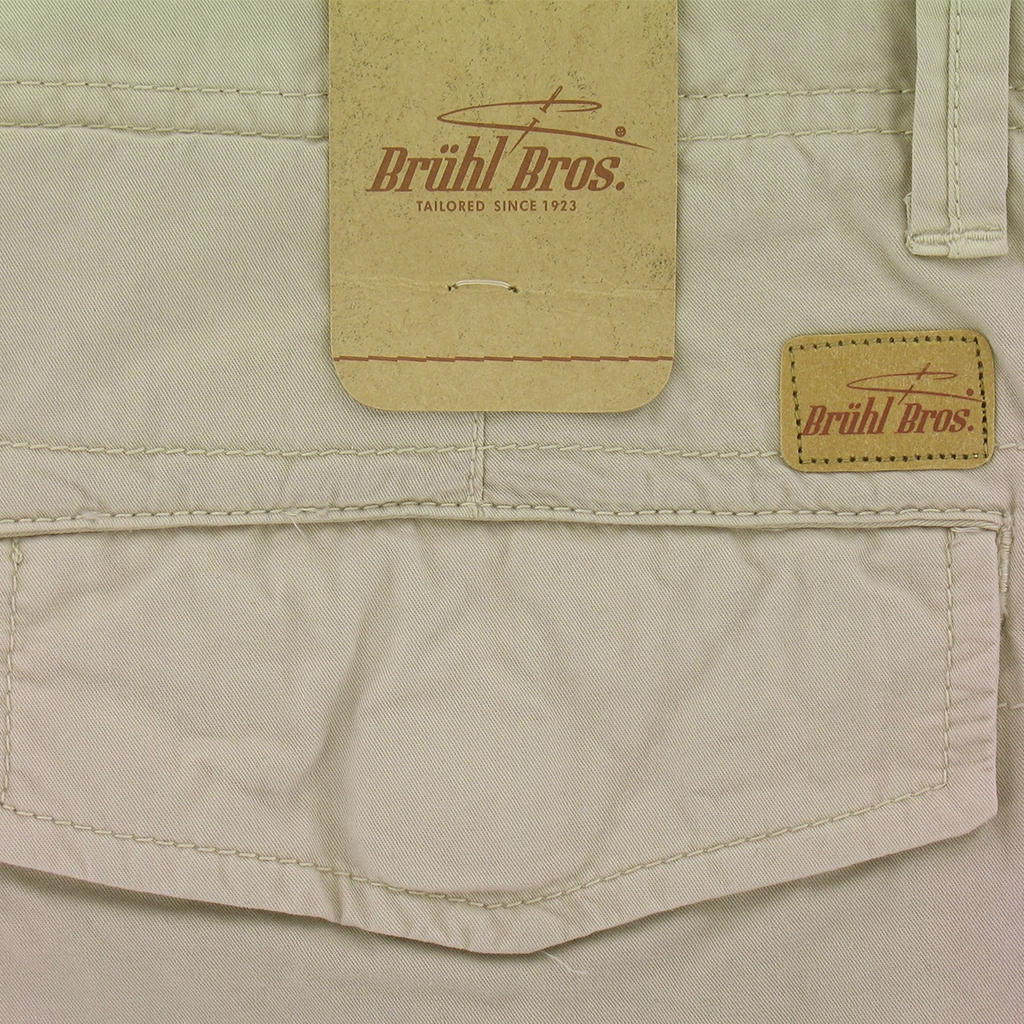 New for 2017 Bruhl Braga Cotton Cargo Shorts - Beige