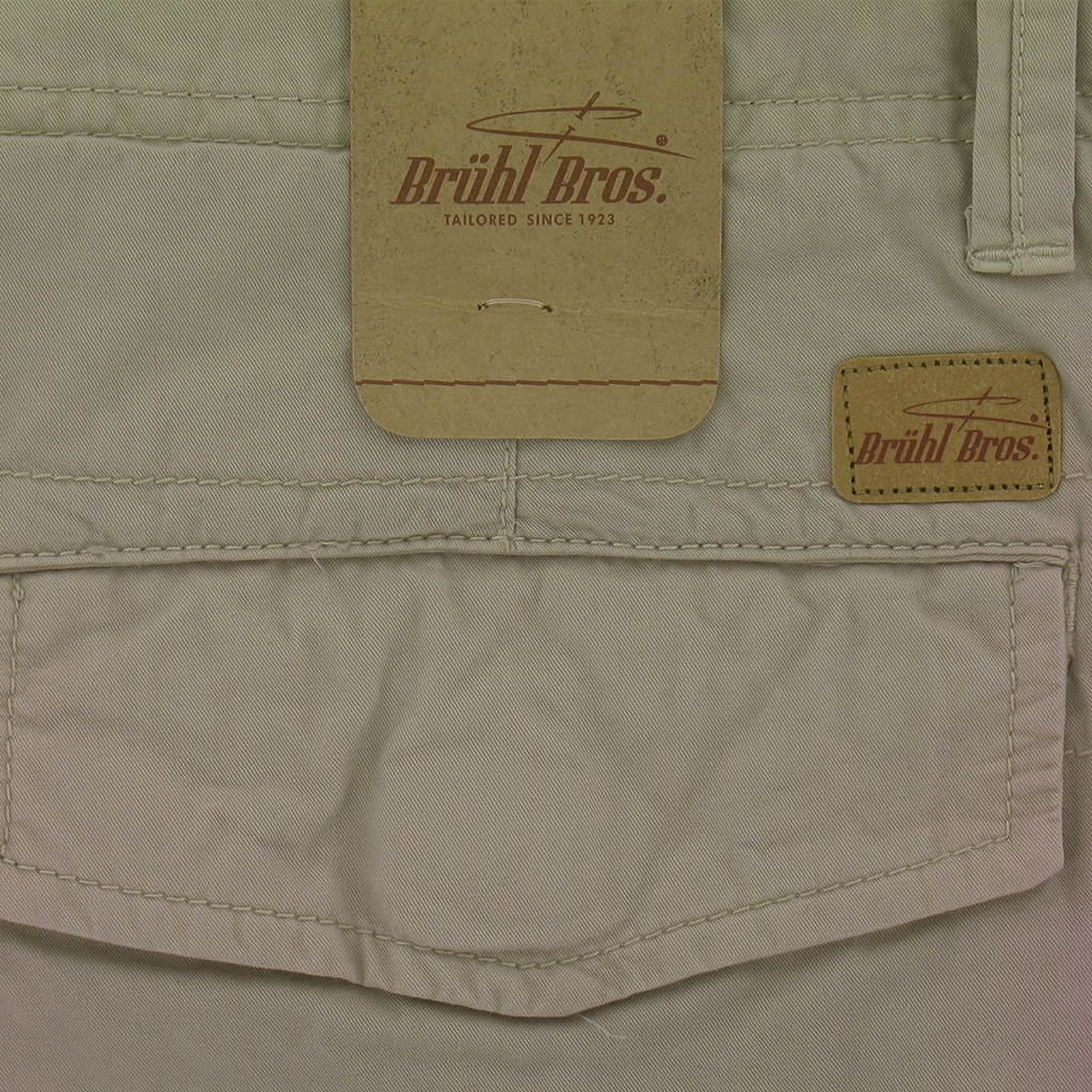 New for 2017 Bruhl Braga Cotton Cargo Shorts - Taupe