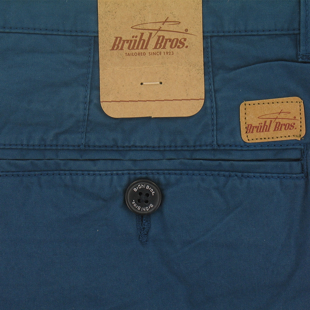 New for 2017 Bruhl Porto Cotton Shorts - Blue