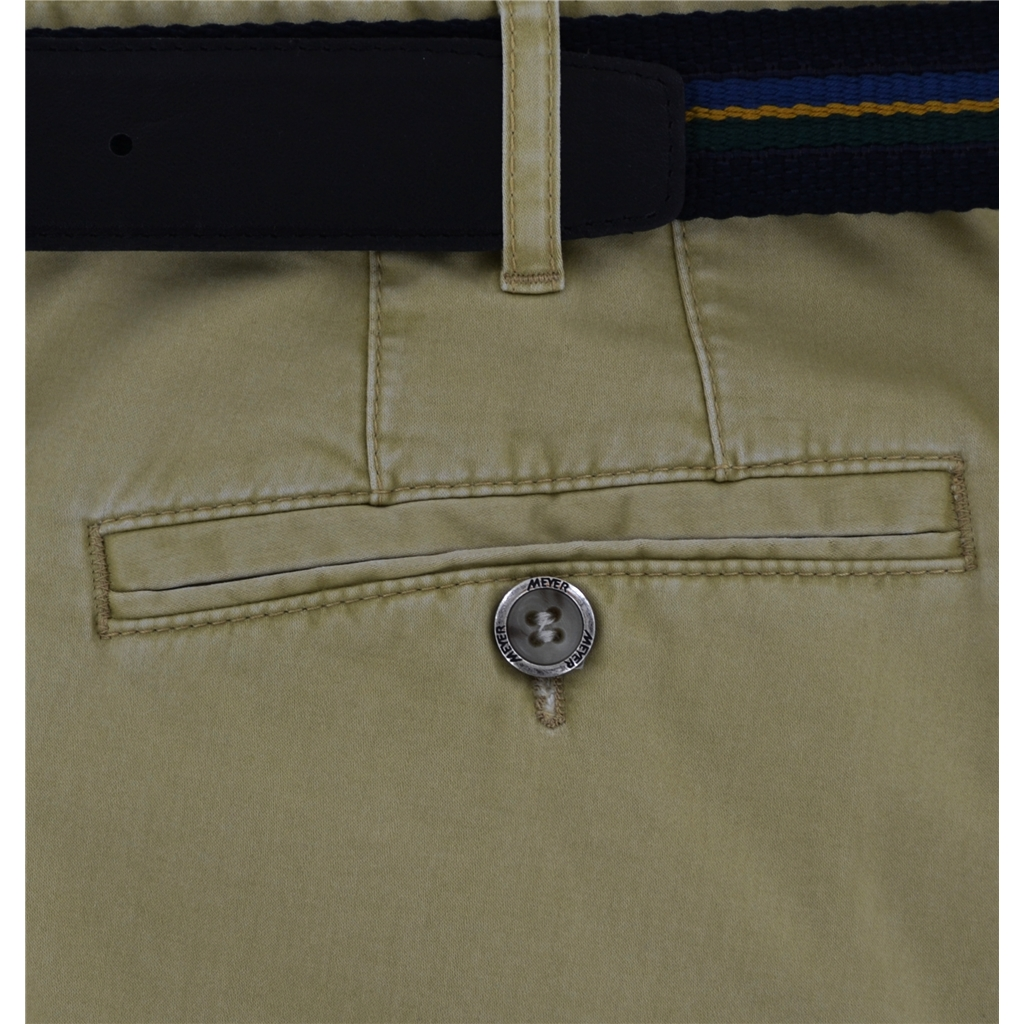 Meyer Luxury Cotton & Silk Trousers - Sand - Special Selection Range