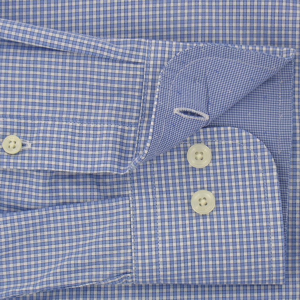 New For Autumn Hackett Brompton Micro Gingham Blue