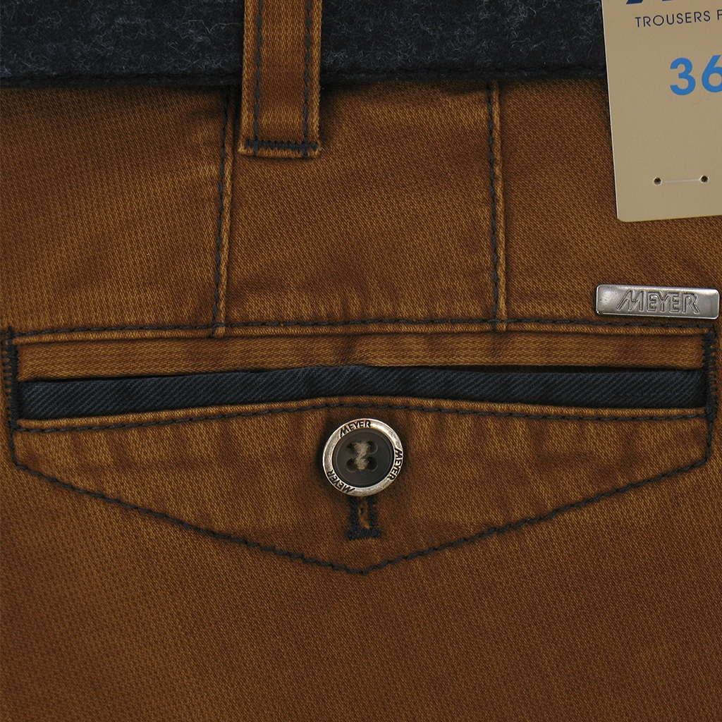 Autumn 2017 Meyer Trousers Cotton Tan - Chicago 5533-46