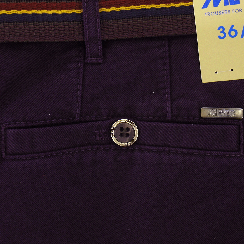 Autumn 2017 Meyer Trousers Cotton Deep Purple - Roma 5502 57