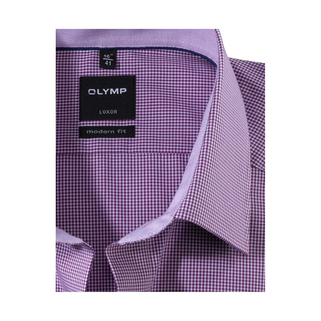 New Autumn 2017 Olymp Modern Fit Shirt - Fuchsia Check
