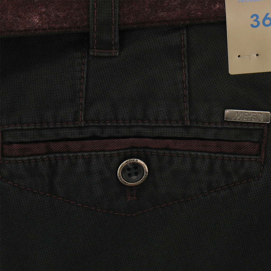 Autumn 2017 Meyer Trousers Cotton Charcoal - Chicago 5533-08