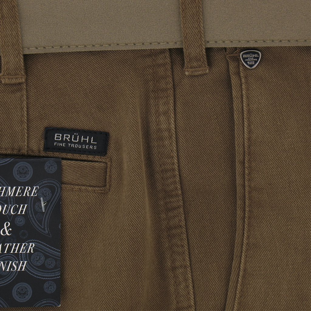 Autumn 2017 Bruhl Luxury Cotton Trouser - Brown Sand - Montana 182310 540