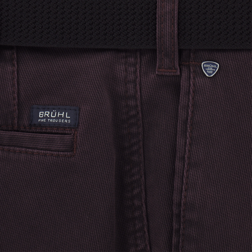 Autumn 2017 Bruhl Cotton Cotele Trouser - Wine - Montana 182790 580