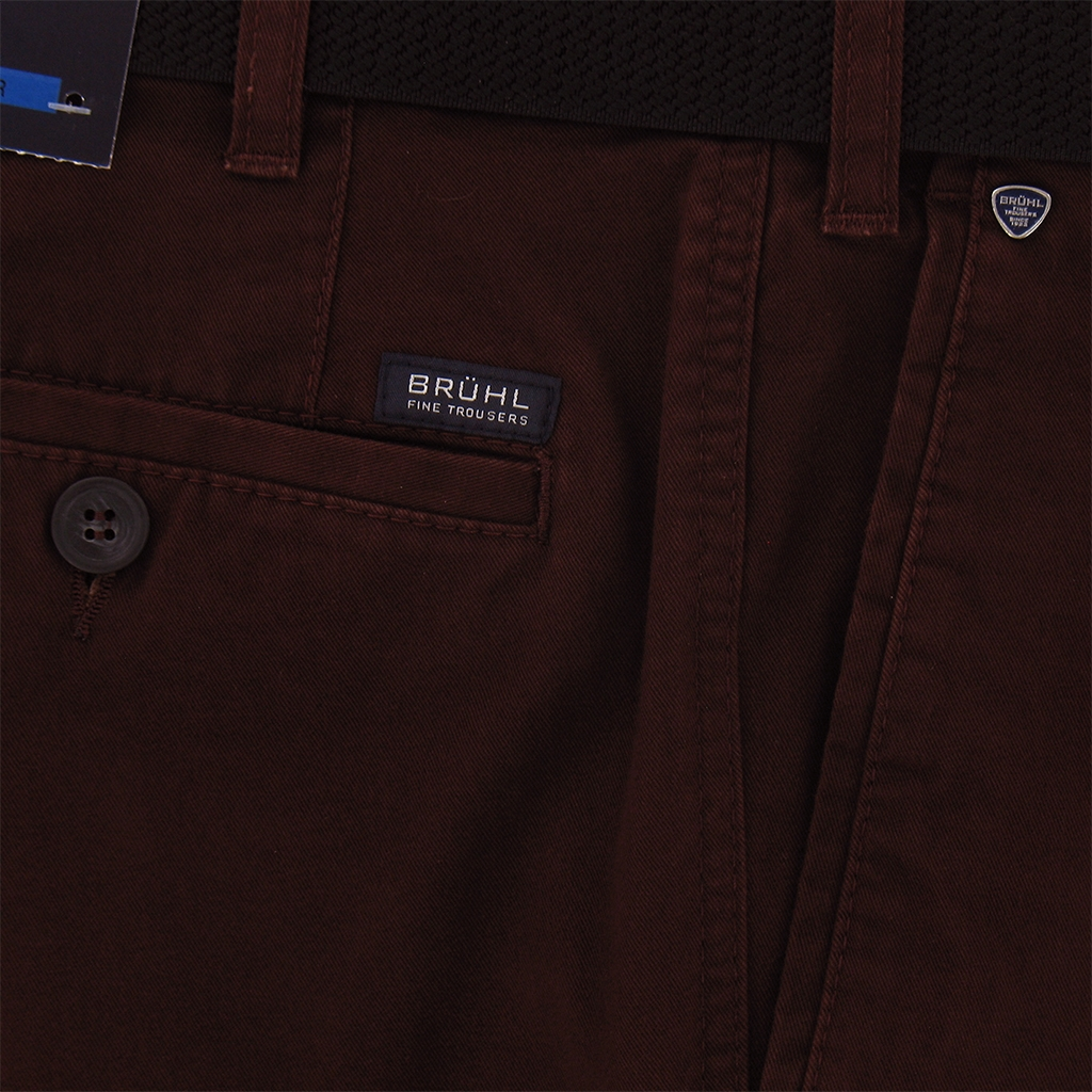 Autumn 2017 Bruhl Cotton Trouser - Wine - Montana 180000 860