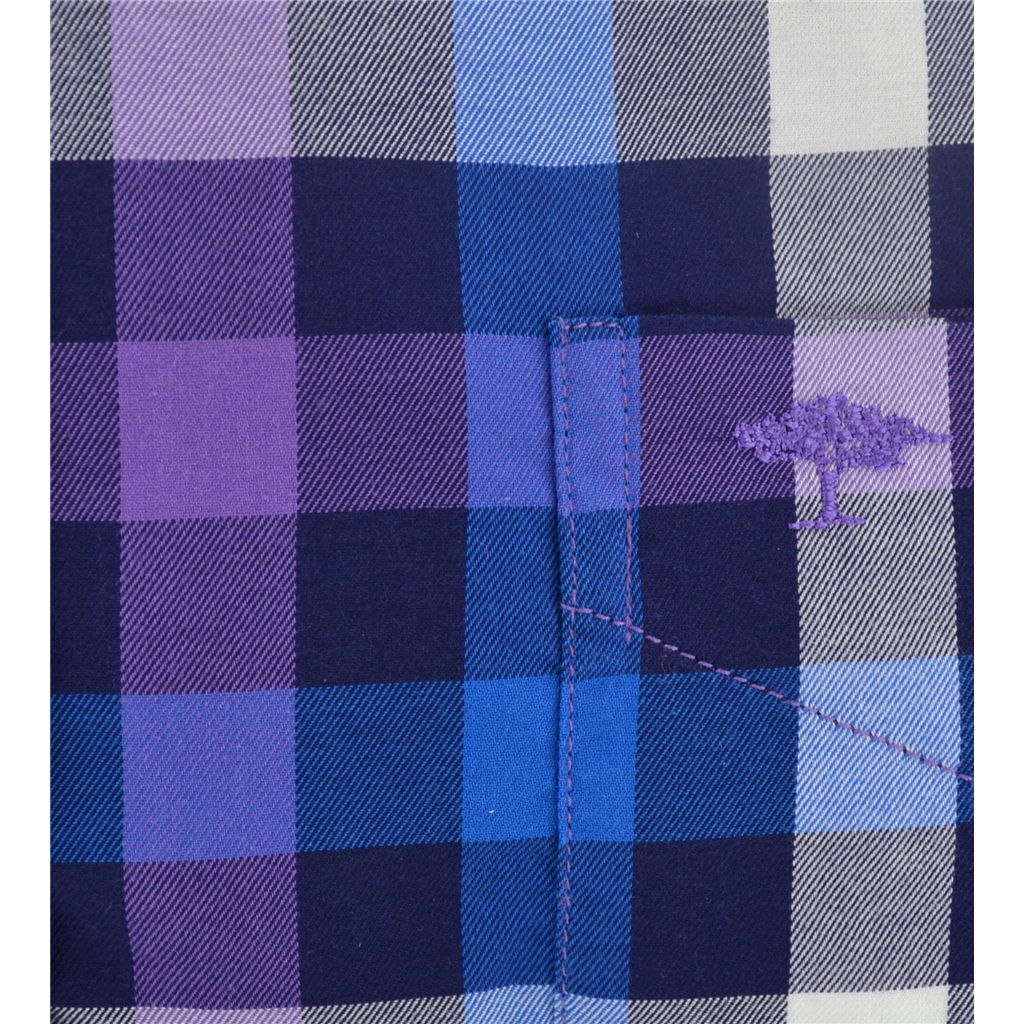 Autumn 2017 Fynch-Hatton Shirt - Amethyst Navy Hightwist Cotton Check