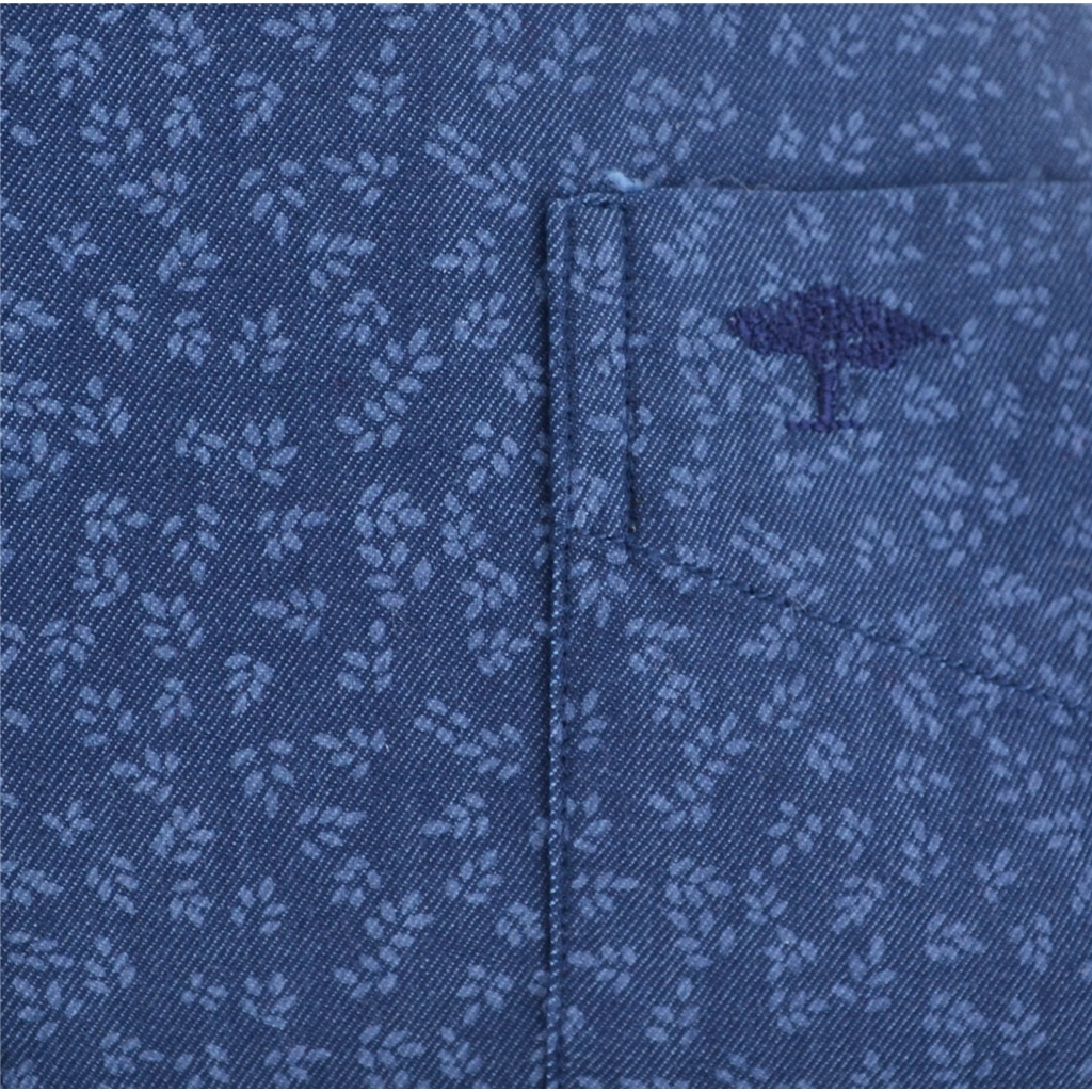Autumn 2017 Fynch-Hatton Shirt - Navy Blue Leaves