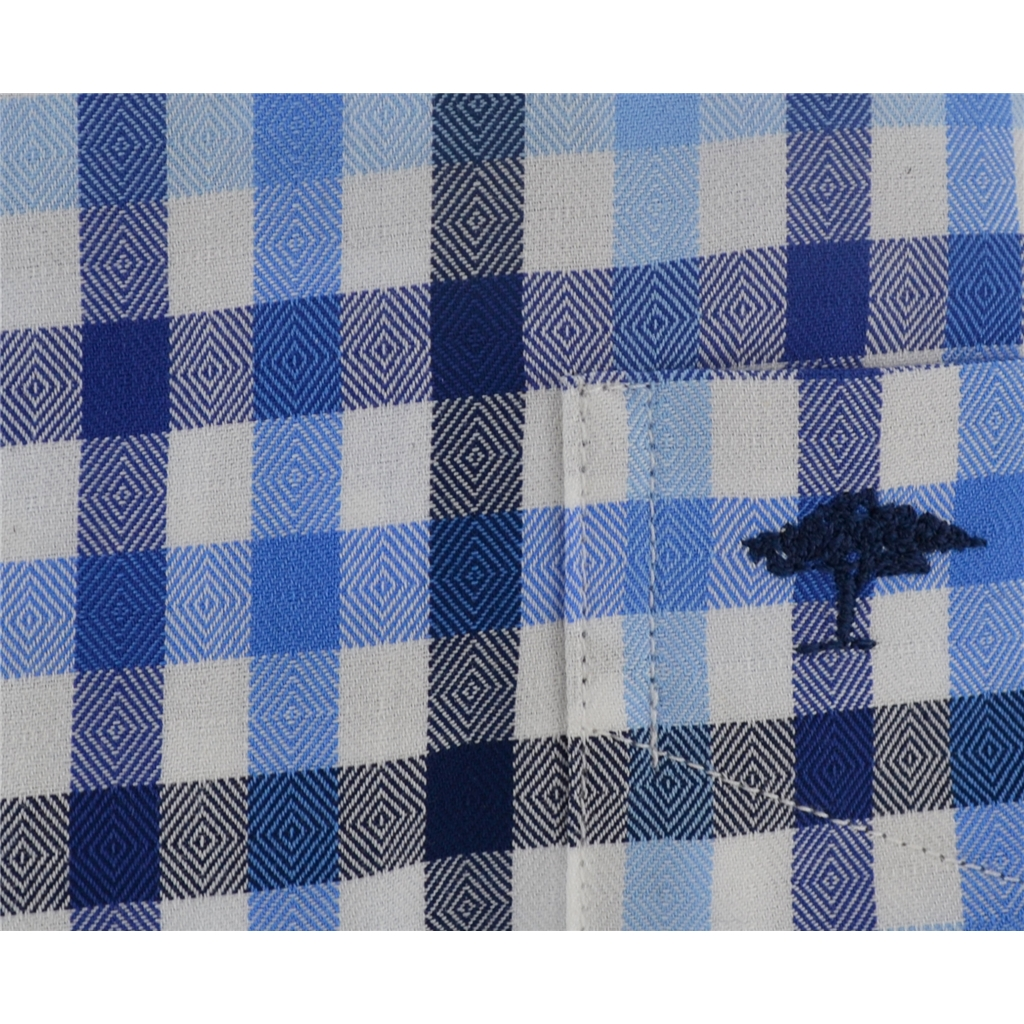 Fynch-Hatton Shirt - Navy Stone Check - Size L & XXL Only