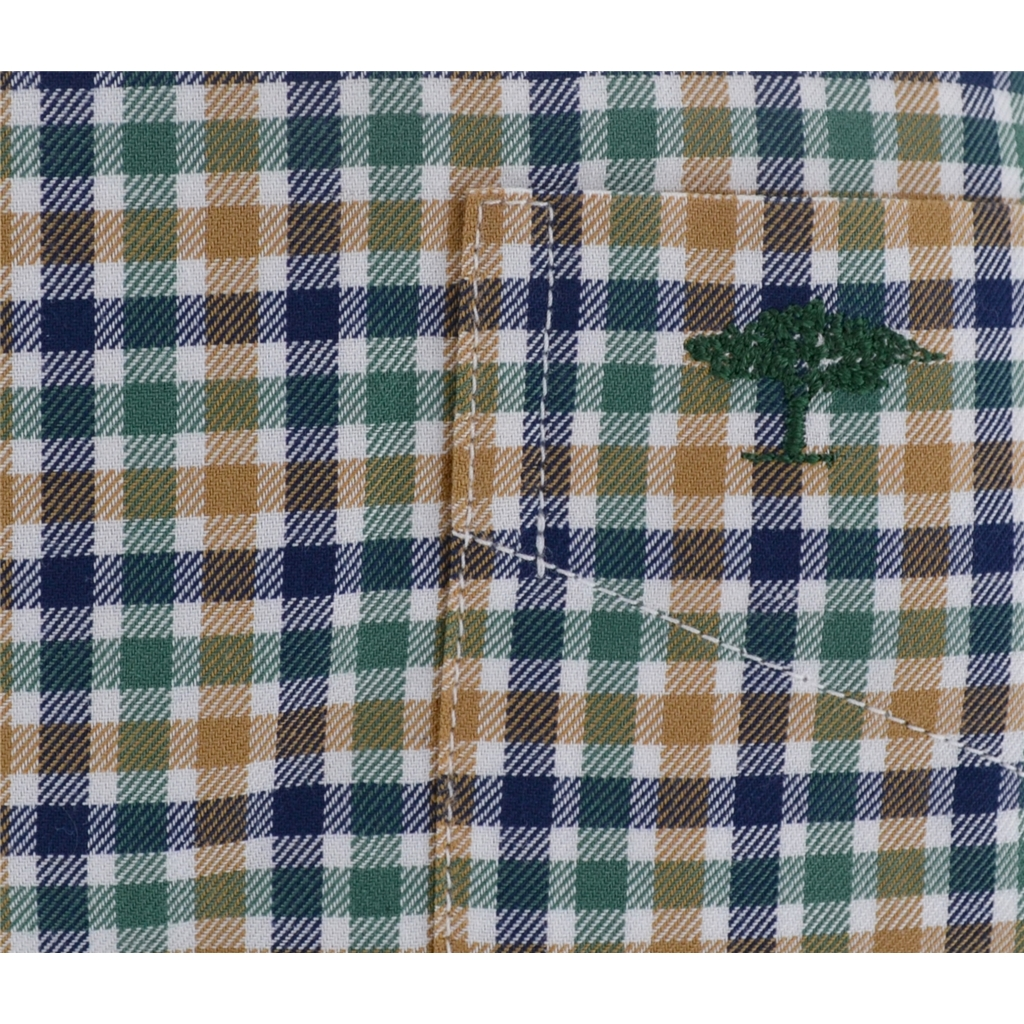Autumn 2017 Fynch-Hatton Shirt - Loden Mustard Superfine Twill Check