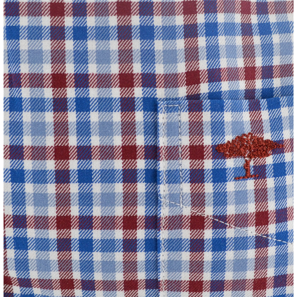 Autumn 2017 Fynch-Hatton Shirt - Blue Crimson Superfine Twill Check