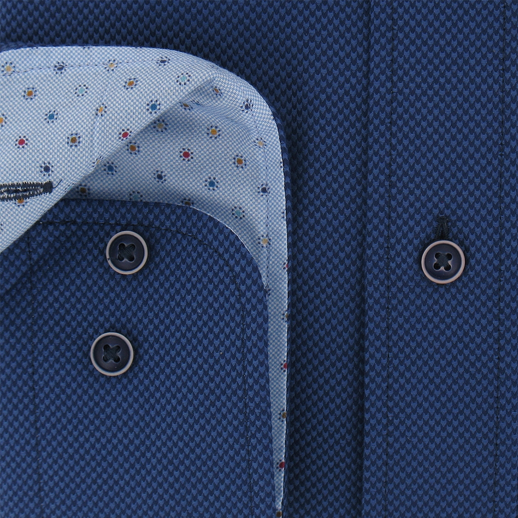 Autumn 2017 Giordano Shirt - Navy Neat- Regular Fit