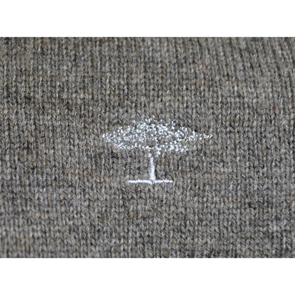 Autumn 2017 Fynch Hatton Wool & Cashmere V Neck - Walnut