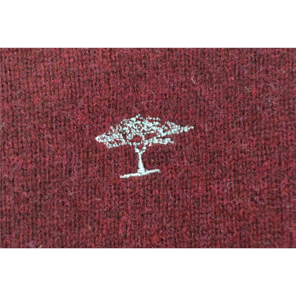 Autumn 2017 Fynch Hatton Wool & Cashmere V Neck - Firebrick