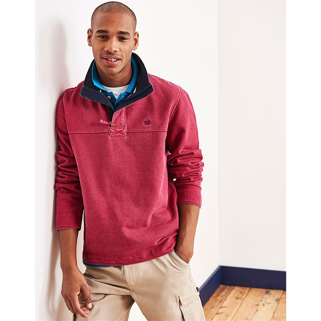 Autumn 2017 Mens Crew Clothing Padstow Pique Sweat - Washed Cherry