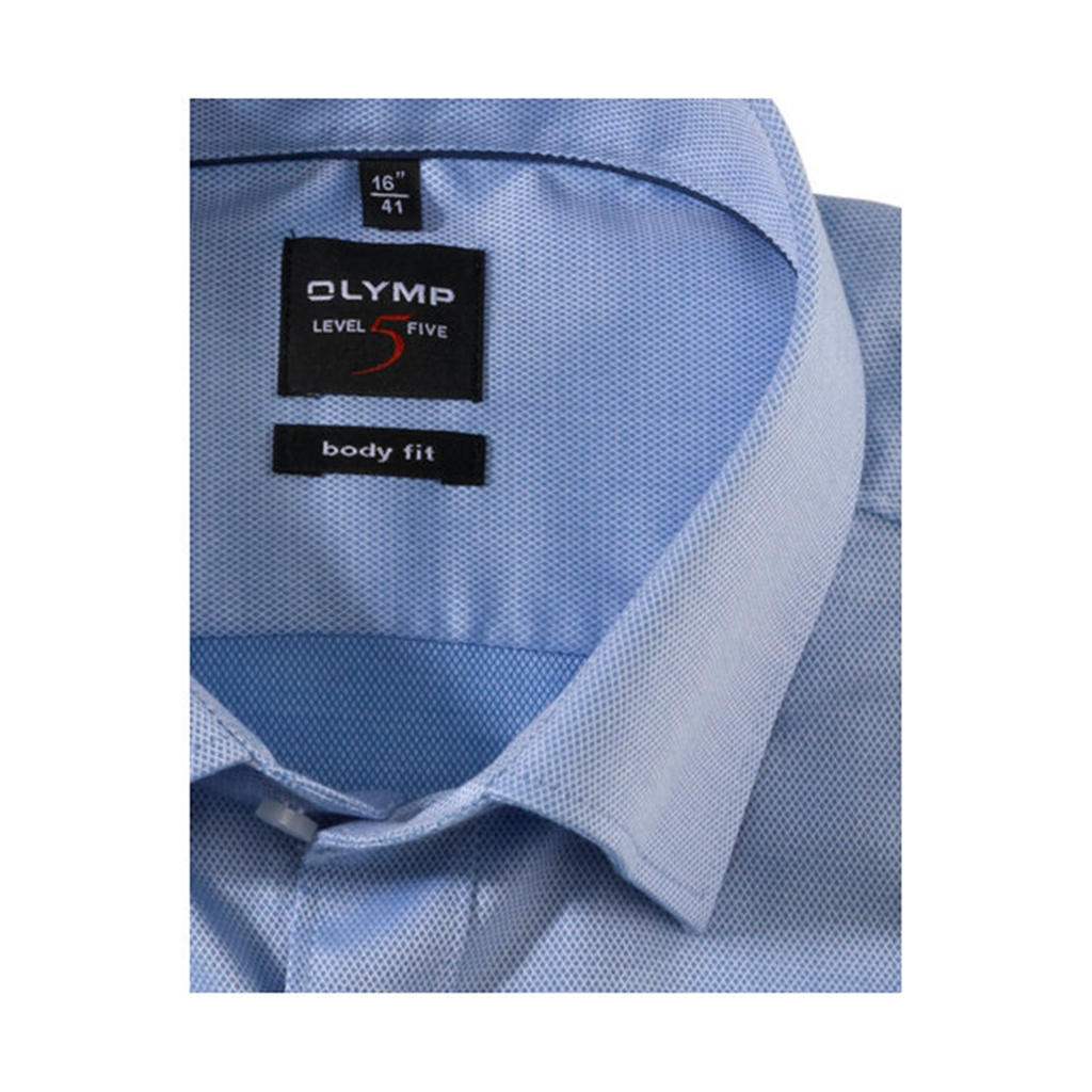 Olymp Level Five Body Fit Shirt  - Sky Blue - 0464 64 15