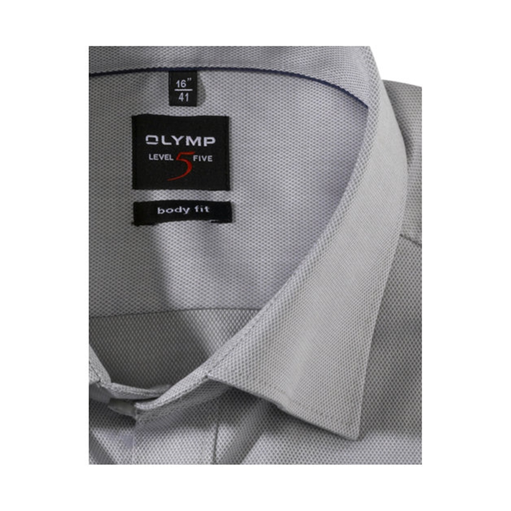 Olymp Level Five Body Fit Shirt  - Grey - 0464 64 62